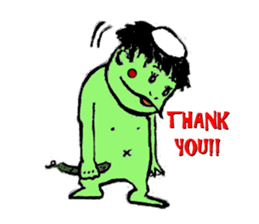 GREEN DEVIL - KAPPY - sticker #319397