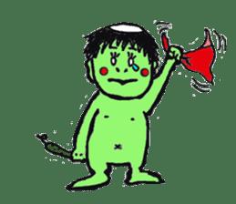 GREEN DEVIL - KAPPY - sticker #319400