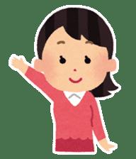 Irasutoya Girl sticker #319945