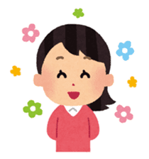 Irasutoya Girl sticker #319946