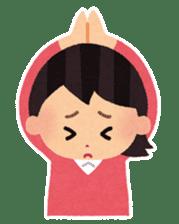 Irasutoya Girl sticker #319947