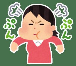 Irasutoya Girl sticker #319948