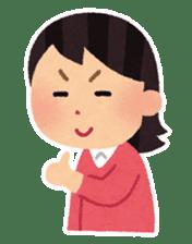 Irasutoya Girl sticker #319951