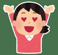 Irasutoya Girl sticker #319955
