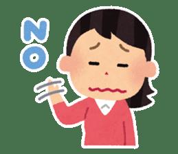 Irasutoya Girl sticker #319957
