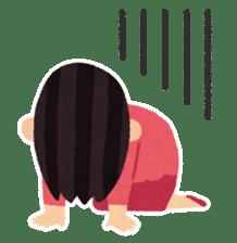Irasutoya Girl sticker #319960