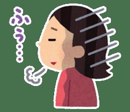 Irasutoya Girl sticker #319961