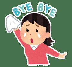 Irasutoya Girl sticker #319962