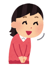 Irasutoya Girl sticker #319963