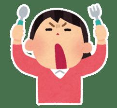 Irasutoya Girl sticker #319969