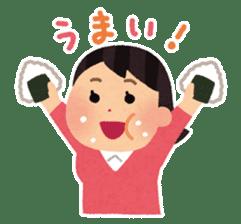 Irasutoya Girl sticker #319970