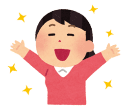 Irasutoya Girl sticker #319973