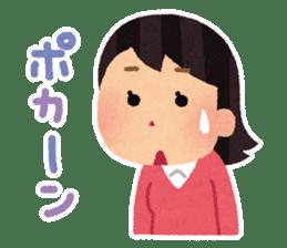 Irasutoya Girl sticker #319976