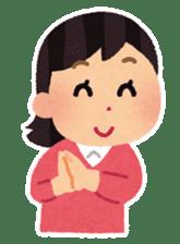 Irasutoya Girl sticker #319978