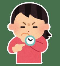 Irasutoya Girl sticker #319980