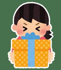 Irasutoya Girl sticker #319983