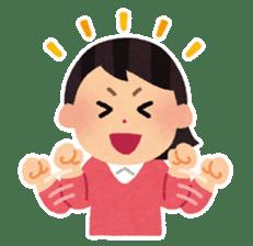 Irasutoya Girl sticker #319984