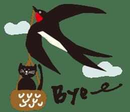 Ms. momoko of a black cat sticker #321986