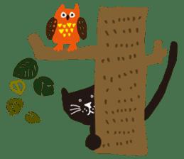 Ms. momoko of a black cat sticker #321987