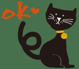 Ms. momoko of a black cat sticker #321989