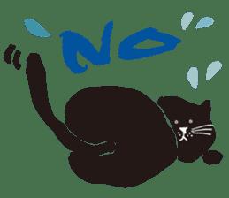 Ms. momoko of a black cat sticker #321990