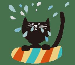 Ms. momoko of a black cat sticker #321991
