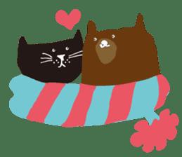 Ms. momoko of a black cat sticker #321995