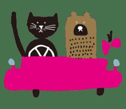 Ms. momoko of a black cat sticker #321996