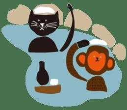 Ms. momoko of a black cat sticker #322007