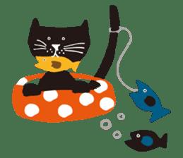 Ms. momoko of a black cat sticker #322008