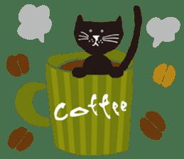 Ms. momoko of a black cat sticker #322009