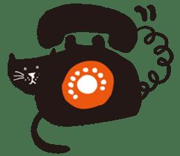 Ms. momoko of a black cat sticker #322010