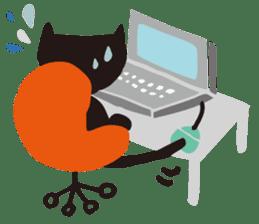 Ms. momoko of a black cat sticker #322011