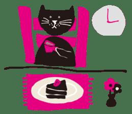 Ms. momoko of a black cat sticker #322012