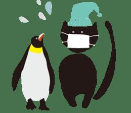 Ms. momoko of a black cat sticker #322013