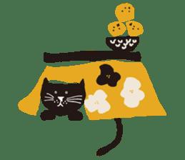 Ms. momoko of a black cat sticker #322017