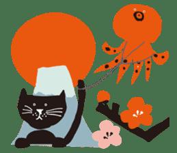 Ms. momoko of a black cat sticker #322021