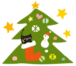 Ms. momoko of a black cat sticker #322022
