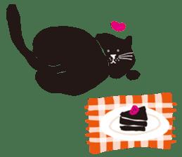 Ms. momoko of a black cat sticker #322024