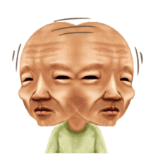Kimo-kawaii Old man sticker #322799