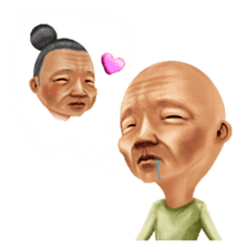 Kimo-kawaii Old man sticker #322802