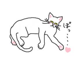 "wrote in the mouse ""white cat Mimi"" sticker #325065"