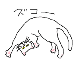 "wrote in the mouse ""white cat Mimi"" sticker #325084"