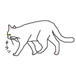 "wrote in the mouse ""white cat Mimi"" sticker #325095"