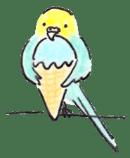 Cute Little Parakeet - HAPPY LIFE sticker #325626