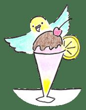 Cute Little Parakeet - HAPPY LIFE sticker #325627