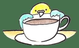 Cute Little Parakeet - HAPPY LIFE sticker #325628