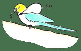 Cute Little Parakeet - HAPPY LIFE sticker #325629