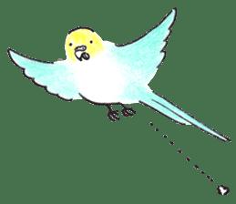 Cute Little Parakeet - HAPPY LIFE sticker #325632