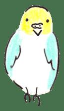 Cute Little Parakeet - HAPPY LIFE sticker #325633
